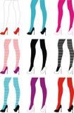 nikłe żeńskie nogi Zdjęcia Stock
