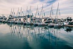 Nik?y rz?d jachty w porcie Sochi fotografia royalty free