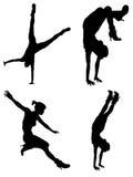 Sportowy Silouhettes Fotografia Royalty Free