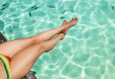 Nikłe nogi na wakacje Obrazy Stock