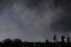 Nik Wallanda Überfahrt Niagara Falls. lizenzfreie stockfotografie