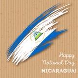 Nikaragua dnia niepodległości Patriotyczny projekt ilustracja wektor