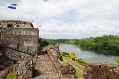 Nikaragua, Fortyfikujący kasztel w El Castillo Zdjęcie Stock