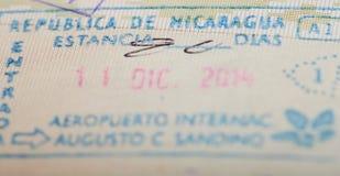 Nikaragua imigracji wiza zdjęcie royalty free