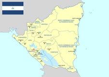 Nikaragua mapa Zdjęcie Stock