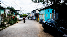 Nikaragua ulica Mieści Wiejskiego żywego sąsiedztwa Ameryka Środkowa San Jan Del Sura życia turystyki Nikaraguańskiego turysty Zdjęcie Stock