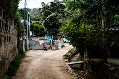 Nikaragua Wiejskiej Żywej chałupy Turystyczny miejsce przeznaczenia Ameryka Środkowa San Juan Del Sura Fotografia Stock