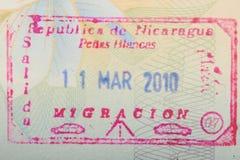 Nikaragua zwyczajów znaczek fotografia stock