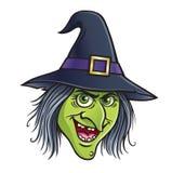 Nikczemna czarownicy twarz Obraz Stock