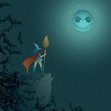 Nikczemna Halloween łuna - ilustracja Zdjęcie Royalty Free