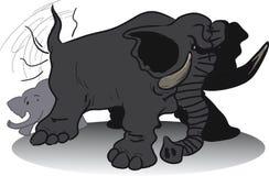 Nikczemny ogromny słoń ilustracji