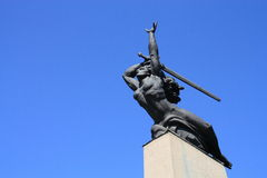 Nike. Statue in Warsaw, Poland Stock Photography