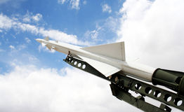 A Nike Ajax Missile and Launcher Stock Image