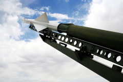 A Nike Ajax Missile and Launcher Stock Photo