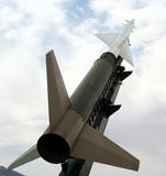 A Nike Ajax Missile and Launcher Stock Images