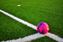 Nike ball on green grass Stock Photo