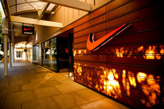 Nike-Betrieb-Speicher im Stanford-Einkaufszentrum Lizenzfreie Stockbilder