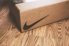 A Nike box on the floor