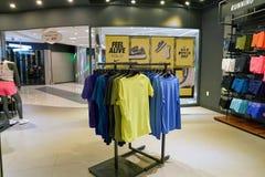 Nike. BUSAN, SOUTH KOREA - CIRCA MAY, 2017: inside Nike store at Lotte Department Store Royalty Free Stock Images