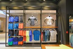 Nike. BUSAN, SOUTH KOREA - CIRCA MAY, 2017: inside Nike store at Lotte Department Store Stock Photography