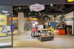 Nike. BUSAN, SOUTH KOREA - CIRCA MAY, 2017: Nike store at Lotte Department Store Royalty Free Stock Photo
