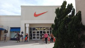 Nike Factory Store At Orlando Vineland Premium Outlets Shopping Mall. Orlando, Florida / USA, March 2, 2019: Nike Factory Store At Orlando Vineland Premium stock photography