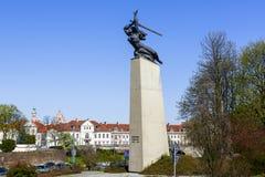 Nike monument till hjältarna av Warszawa Arkivbild