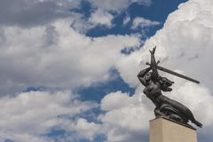 Nike- Monument to the Heroes of Warsaw by Marian Konieczny Stock Images