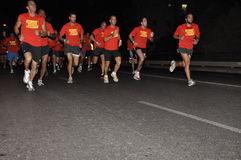 Nike NightRun Tel-Aviv 2009 Stock Photo