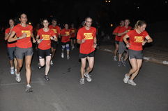 Nike NightRun Tel-Aviv 2009, the finish Royalty Free Stock Image
