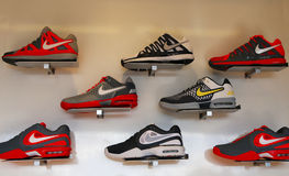 Nike presented new tennis shoes collection during US Open 2013 at Billie Jean King National Tennis Center Stock Photos