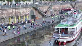 PRAGUE, CZ - AUGUST 30, 2014: Nike We Run Prague M stock footage