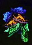 Nike Shoes de neón Imagen de archivo libre de regalías