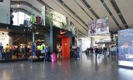 NIKE Shop in Rome. View of a NIKE store in Rome, Italy Royalty Free Stock Image