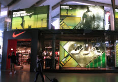 NIKE Shop in Rome. View of a NIKE store in Rome, Italy Stock Image