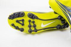 Nike Sneaker Soccer. Royalty Free Stock Images