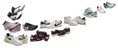 Nike sport shoes Stock Photography