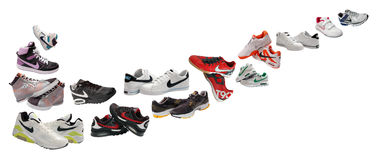 Nike sport shoes. Like logo isolated on white Stock Photography