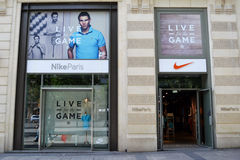 Nike store, paris Stock Images