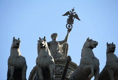Nike on the triumphal chariot Stock Photos