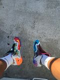Nike What The Lebron 11s fotografie stock