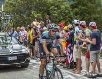 Niki攀登Alpe D'Huez的Terpstra 免版税库存图片