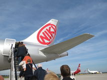 Niki Airlines aircraft Royalty Free Stock Image