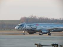Niki Airlines-vliegtuigen Stock Fotografie