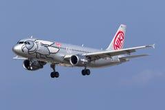 Niki A320 auf Schlüssen Stockfotografie