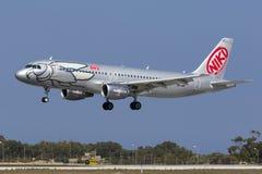 Niki A320 auf Schlüssen Stockbilder