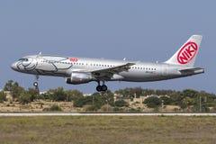 Niki A320 en finales Imagen de archivo libre de regalías