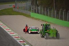Niki Hasler Ferrari 458 utmaning Evo på Monza Arkivfoton