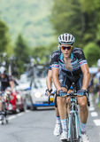 Niki Terpstra na Col Du Tourmalet - tour de france 2014 Obrazy Stock