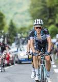 Niki Terpstra på Sänka du Tourmalet - Tour de France 2014 Arkivbilder